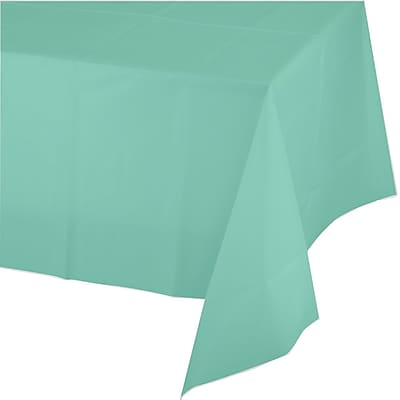 Touch of Color Fresh Mint Green Plastic Tablecloth (318901)