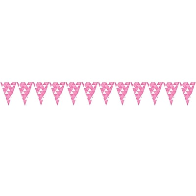 Celebrations Candy Pink Fractal Flag Banner (324462)