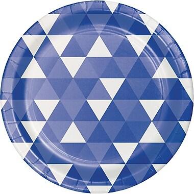 Celebrations Cobalt Blue Fractal Paper Plates 8 pk (319961)