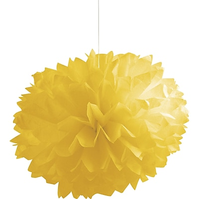 Creative Converting Mimosa Yellow Tissue Balls 3 pk (030242)