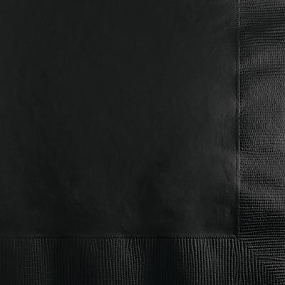 Touch of Color Black Beverage Napkins 50 pk (57134B)