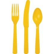 Touch of Color School Bus Yellow Assorted Plastic Cutlery 24 pk (011022)