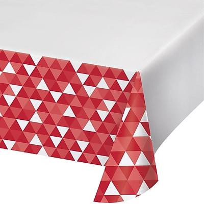 Celebrations Classic Red Fractal Plastic Tablecloth (324457)