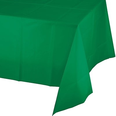 Touch of Color Emerald Green Plastic Tablecloth (01191B)