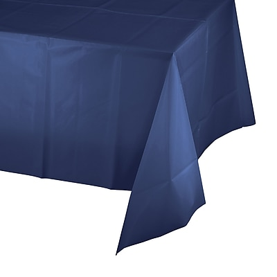 Touch of Color Navy Blue Plastic Tablecloth (010140B)