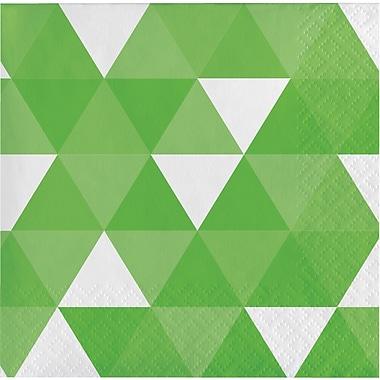 Celebrations Fresh Lime Green Fractal Beverage Napkins 16 pk (319973)