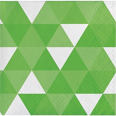 Celebrations Fresh Lime Green Fractal Beverage Napkins 16 pk (319973)