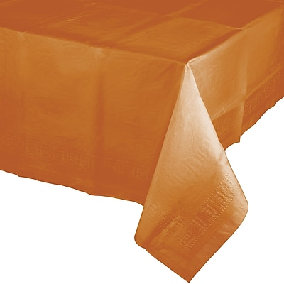 Touch of Color Pumpkin Spice Orange Paper Tablecloth (323378)