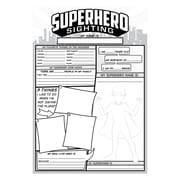 "Superhero Sighting, White, 36/set, 19"" x 13"" (TOP3060)"