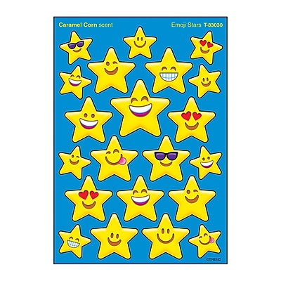 Trend Emoji Stars Stinky Stickers®, Mixed Shapes, 84ct per pk, bundle of 6 packs (T-83030)