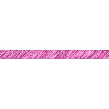 Teacher Created Resources Hot Pink Scribble Straight Border Trim, 12/Pack (TCR3416)