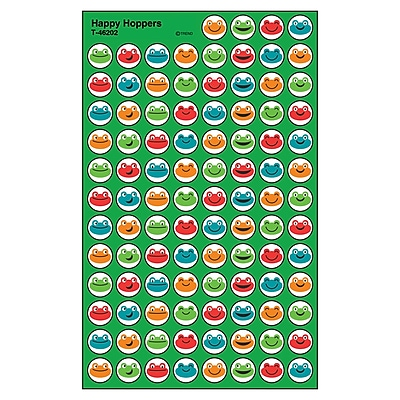 Trend Happy Hoppers superSpots® Stickers, 800ct per pk, bundle of 6 packs (T-46202)