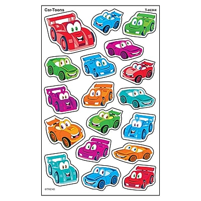 Trend Car-Toons superShapes Stickers-Large, 144ct per pk, bundle of 6 packs (T-46344)