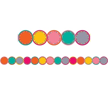 Teacher Created Resources Tropical Punch Circles Die-Cut Border Trim, 12/Pack (TCR3499)