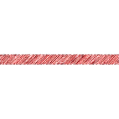 Teacher Created Resources Red Scribble Straight Border Trim, 12/Pack (TCR3413)