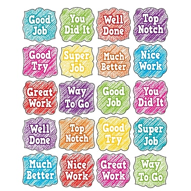 Teacher Created Resource Scribble Stickers, 120ct per pk, bundle of 6 packs (TCR3054)
