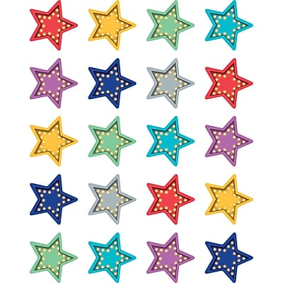 Teacher Created Resource Marquee Stars Stickers, 120ct per pk, bundle of 6 packs (TCR5480)