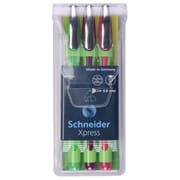 Schneider Xpress Fineliner Assorted Pens, 3 Packs of 3 (STW190095)
