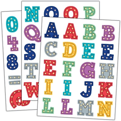 Teacher Created Resource Marquee Alphabet Stickers, 120ct per pk, bundle of 6 packs (TCR3519)