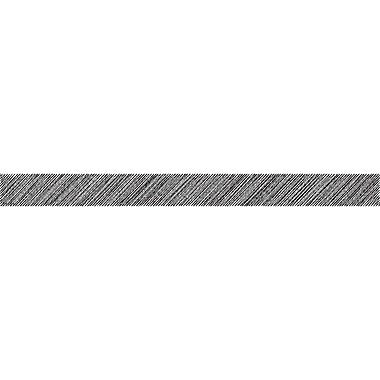 Teacher Created Resources Black Scribble Straight Border Trim, 12/Pack (TCR3417)