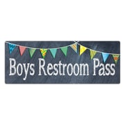 Top Notch Teacher Products Chalkboard Pass Boys Pass (TOP5301)