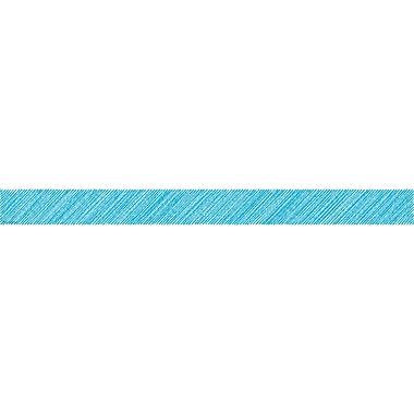 Teacher Created Resources Aqua Scribble Straight Border Trim, 12/Pack (TCR3414)