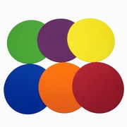 The Storyboard Spot Markers 9IN Set of 6, Made of Soft PVC Material, Assorted Colors (SRBDM9CP)
