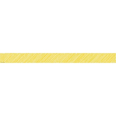 Teacher Created Resources Yellow Scribble Straight Border Trim (TCR3480)