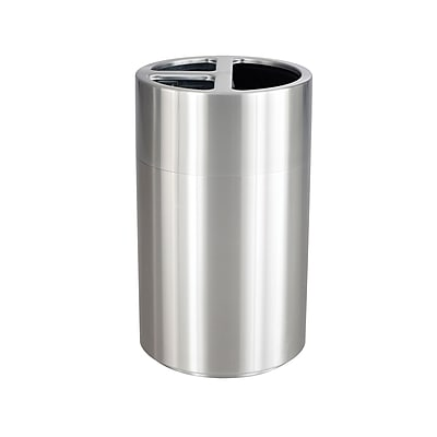 Safco 40 Gallon Recycling Receptacle, Metallic (9941SS)