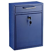 AdirOffice Wall-Mounted Steel Mailbox, Blue (631-04-BLU)