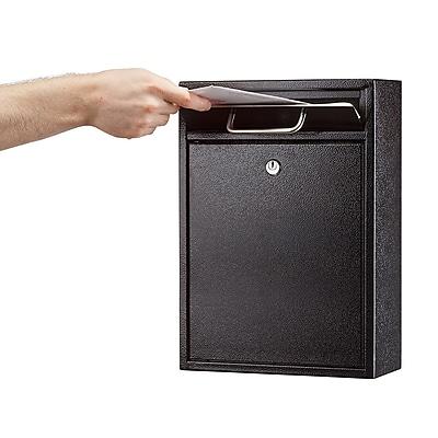 AdirOffice Ultimate Black Wall Mounted Large Mail Box 4.7