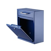 "AdirOffice Medium Ultimate Blue Wall Mounted Mail Box  4.5""D x 10.4""W x 12""H (631-05-BLU)"