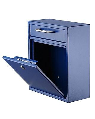AdirOffice Medium Ultimate Blue Wall Mounted Mail Box 4.5