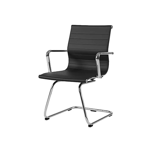 CorLiving Leather Task Chair, Black (WHL-803-C)