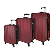 Traveler's Choice Elite Plastic 3-Piece Luggage Set, Red (EL09078R)