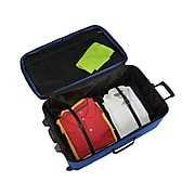 U.S. Traveler Polyester 4-Piece Luggage Set, Blue (US08065N)