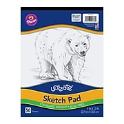 """Pacon UCreate® Sketch Pads, 9"""" x 12"""", 50 Sheets/Pad"""