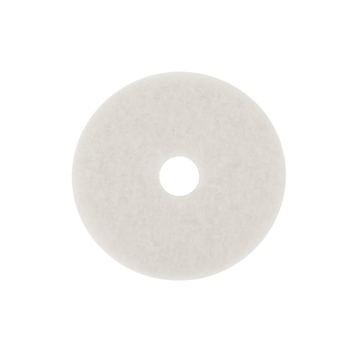 """3M™ Low-Speed, White Super Polish Buffing Pad 4100, 24"""", 5/Case"""