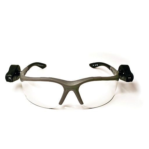 3M™ Light Vision™ 2 Protective Eyewear, Clear Anti-Fog Lens, Gray Frame, Lights (11476-00000-10)