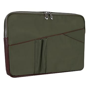 McKlein N Series AUBURN Nylon Laptop Sleeve for 15  Laptops, Green (18321)