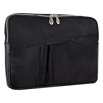 McKlein N Series CRESCENT Nylon Laptop Sleeve for 14  Laptops, Black (18335)