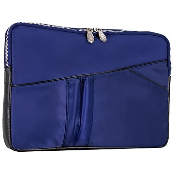 McKleinUSA N Series CRESCENT Nylon Laptop Sleeve for 14  Laptops, Navy (18337),Size: small