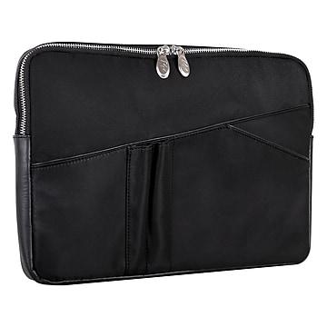McKleinUSA N Series AUBURN Nylon Laptop Sleeve for 15  Laptops, Black (18325),Size: small