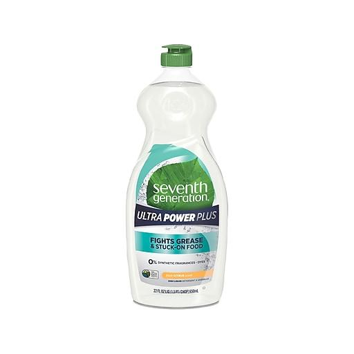 Seventh Generation Ultra Power Plus Liquid Dish Soap, Fresh Citrus Scent (SEV22928)