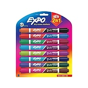 Expo 2-in-1 Tank Dry Erase Markers, Chisel Tip, Assorted Ink, 8/Pack (1944658)