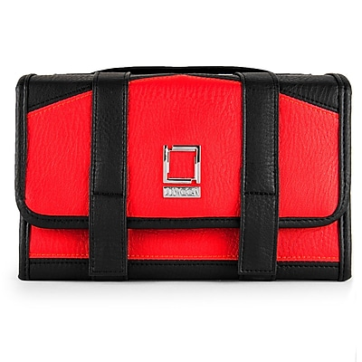 Lencca Stowaway Travel Organizer Compact Privacy Removable Compartment , Red Black