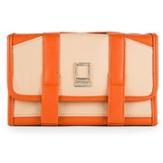 Lencca Stowaway Travel Organizer Compact Privacy Removable Compartment, Cream Orange