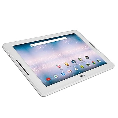 """Refurbished Acer 10.1"""" Tablet 16GB Android 6.0 Marshmallow White"""