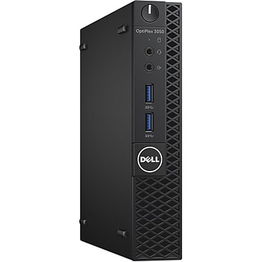 Dell Optiplex 3050 Intel Core i5-7500T X4 2.7GHz 4GB 128GB SSD Win10, Black (Certified Refurbished)