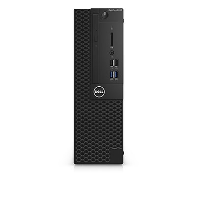Dell Optiplex 3050 Intel Core i3-7100 X2 3.9GHz 4GB 1TB Win10, Black (Certified Refurbished)
